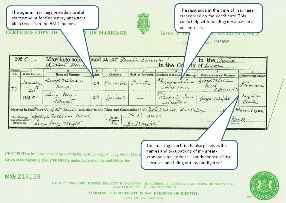 Marriage Certificate Sample Uk Image Gallery - Hcpr
