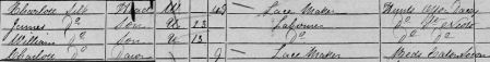 Charlotte Silk in the 1851 census