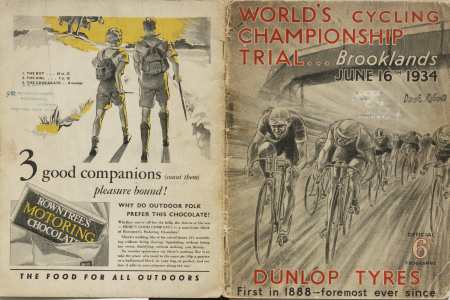 Cover of the 1934 World's Cycling Championship Trial programme