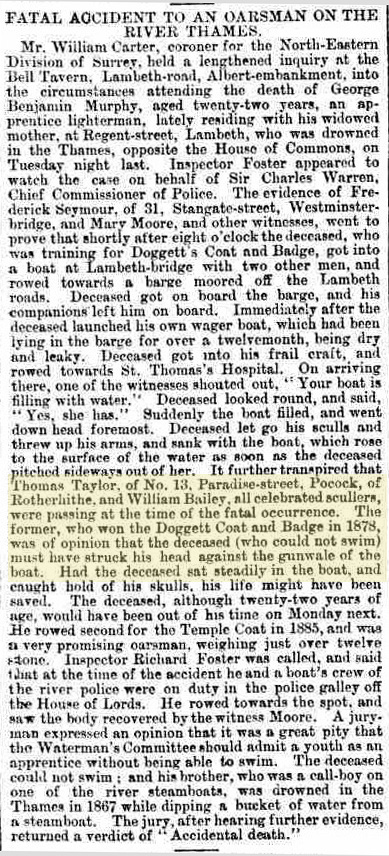 Cutting from Reynolds's Newspaper, 13 June 1886, found at The British Newspaper Archive.